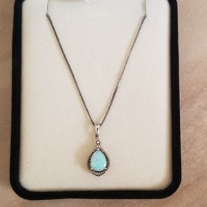 Kay Jewelers Sterling Silver 925 Opal Necklace